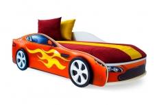 Бондмобиль кровать машина красная + матрас