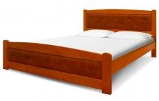 """Кровать """"Берёзка"""" в коже массив сосны"""