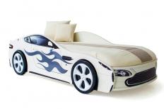 Бондмобиль кровать машина белая + матрас