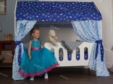 Кровать Домик  Классик, Синий