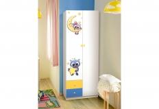 Шкаф 2-х дверный с ящиками и фотопечатью Совята-2.1